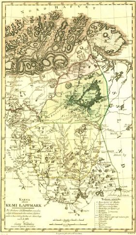 Kemi Lappmark förtecknad vid tiiden kring dess försvinnande, 1804, av Göran Wahlenberg