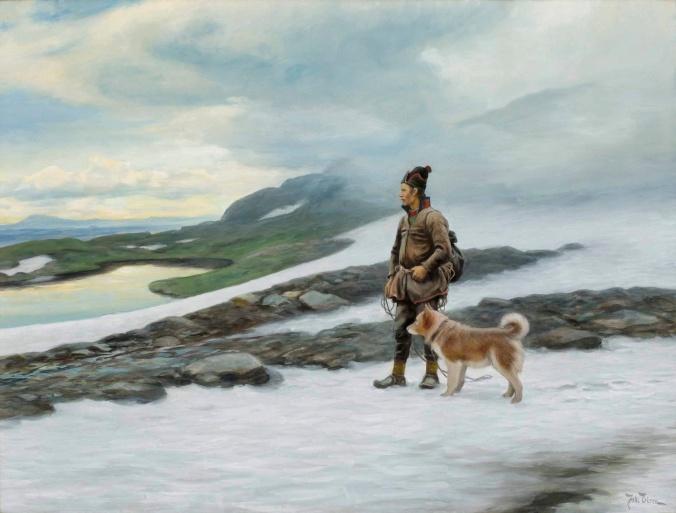 Johan_Tirén_-_Same_med_hund